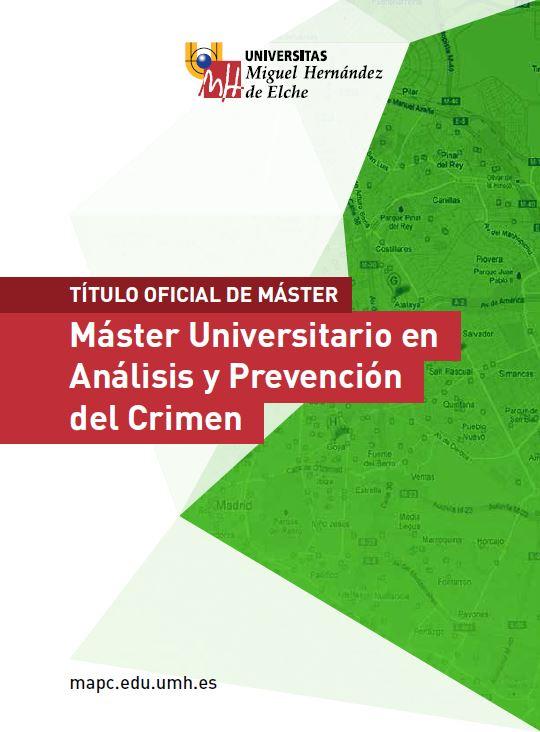 MASTER ANALISIS Y PREVENCIÓN DEL CRIMEN 2016