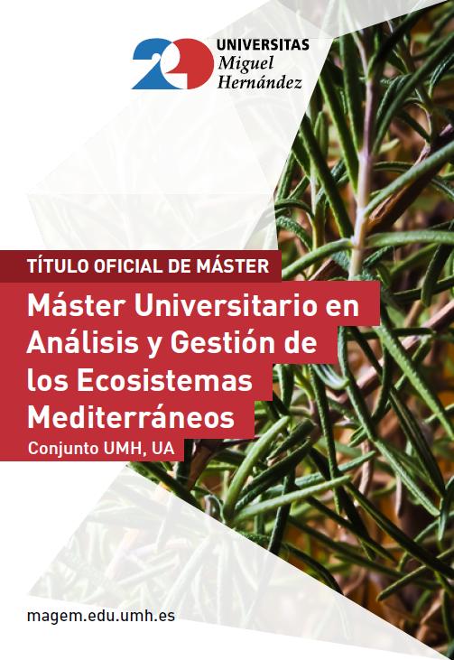 MASTER ANALISIS Y GESTIÓN DE ECOSISTEMAS 2017