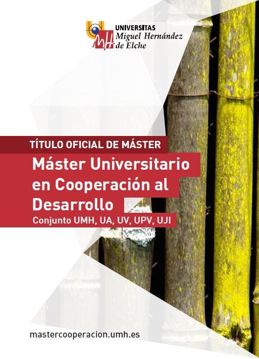 MASTER  COOPERACIÓN DESARROLLO 2016