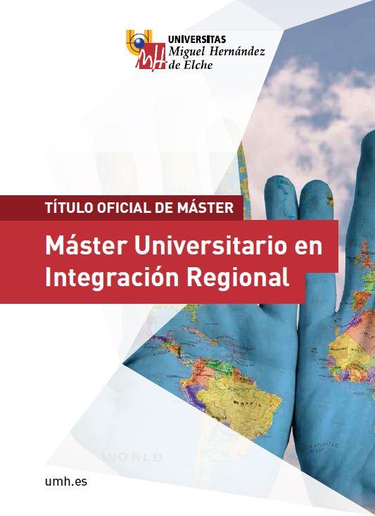 MASTER INTEGRACION REGIONAL 2016