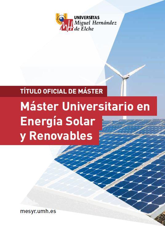 MASTER ENERGIA SOLAR Y RENOVABLES 2016