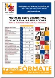 UMH CARTEL NOTAS 2008 CV