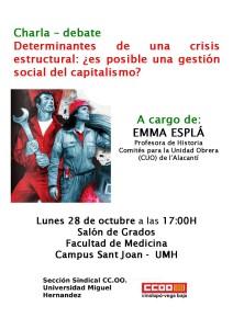 25-10-13- CCOOCharla 4 Emma Esplá