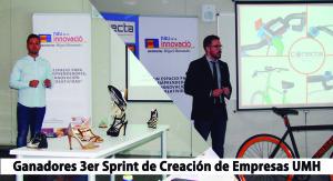 De izda. a dcha.: el impulsor del proyecto PointView360, Aarón Amorós, y el impulsor del proyecto Conecta Bike, Miguel Navarro.