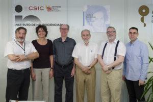 Miembros del jurado, de izquierda a derecha: Salvador Martinez, Silvia Arber, David Wilkinson, Constantino Sotelo, Luis Puelles y Xavier Barber