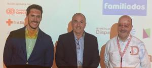 De izquierda a derecha: el secretario de la Plataforma Tecnológica eVIA, Javier Valero, el director ejecutivo de Newmanbrain, Pablo Belmonte, y el director de servicios tecnológicos digitales de Cruz Roja, Carlos Capataz. Fuente: Parque Científico UMH
